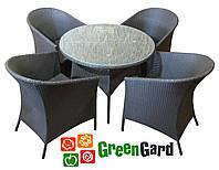 Комплект БАЛЕАР садовая мебель из искусственного ротанга стол + 4 кресла