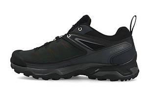 Мужские кроссовки Salomon X Ultra Ltr Gtx (404784) черные кожаные, фото 2