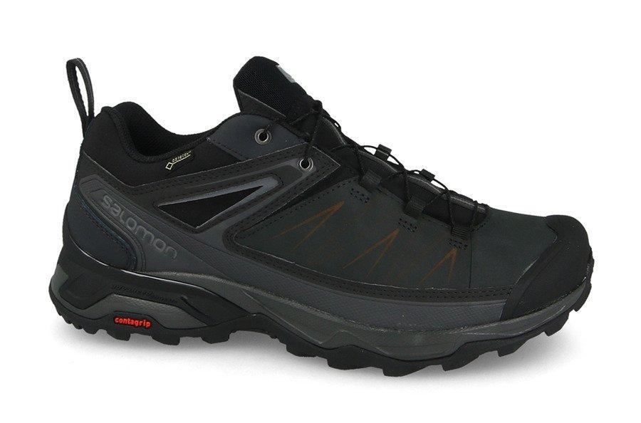 Мужские кроссовки Salomon X Ultra Ltr Gtx (404784) черные кожаные