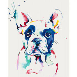 "Картины по номерам ""Настоящий джентльмен"" (собака, бульдог, краски)"
