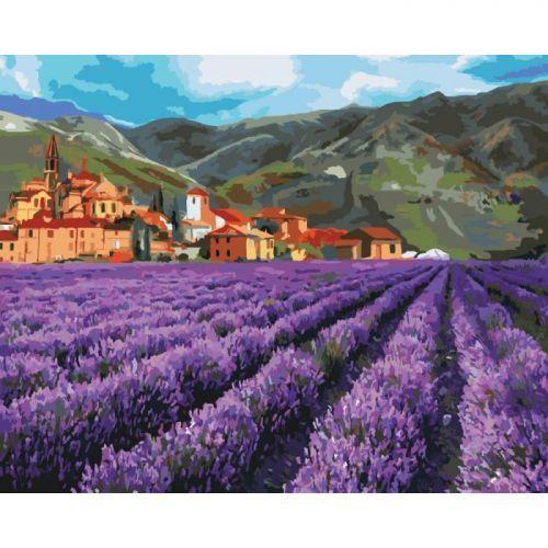 """Картина по номерам """"Горная лаванда"""" (поле, пейзаж, цветы)"""