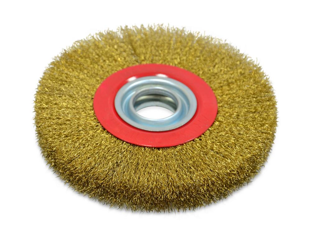 Щітка крацовка дискова Spitce латунна потовщена 125 х 20 мм (18-073)