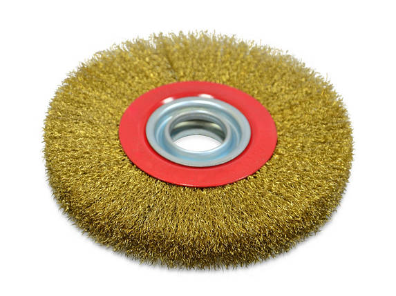 Щітка крацовка дискова Spitce латунна потовщена 125 х 20 мм (18-073), фото 2