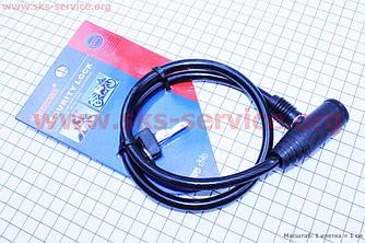 Трос протиугінний під ключ для велосипеда, L=0.65 м Ø8мм TY414