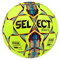Мяч футбольный SELECT Brillant Super FIFA TB ((042) желто/красный) размер 5