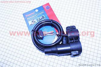 Протиугінний трос велосипедний під ключ L=1м Ø8мм + кріплення TY505