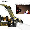 Акумуляторний налобний ліхтар DX-1505A c датчиком руху, фото 3