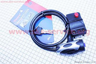 Протиугінний трос для велосипеда, під ключ L=1м Ø8мм + кріплення TY555