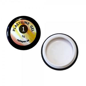 Пластилин гель для лепки NailApex белый, 5 г
