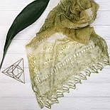 ПалантинЗелёная фисташка П-00095, салатово-зелёный, оренбургский шарф (палантин), фото 3