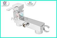 Смеситель для биде настенный с держателем лейки, хром, латунь, квадрат LT 082101 ANGO BRAS 62