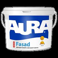 Краска фасадная водно-дисперсионная акриловая для наружных работ AURA Fasad 14кг