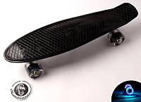 Пенни борд Fish Classic 22″ Черный (Светящиеся черные колеса)