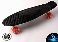 Пенни борд Fish Classic 22″ Черный (Светящиеся красные колеса)