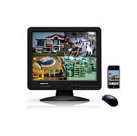 Видеорегистратор-монитор 2в1 + HDD 500Gb в подарок, 8 каналов, запись в D1  (модель KT1508L)