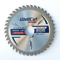 Диск пильный по дереву для циркулярной и торцовочной пилы 115х22.23 WellCut Standard 40Т