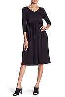 Женское черное миди платье с карманами Superfoxx