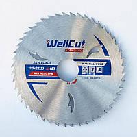 Диск пильный по дереву для циркулярной и торцовочной пилы 115х22.23 WellCut Standard 48Т