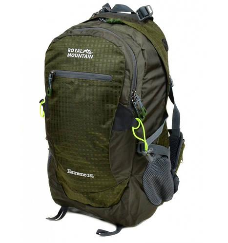 Вместительный туристический рюкзак 35 л. Royal Mountain 4096 dark-green темно-зеленый