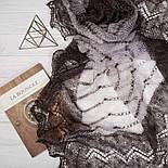 """Шаль """"""""Волна""""""""  Ш-00078, серо-белый , оренбургский платок (шаль) козий пух - 80%, натуральный, фото 3"""