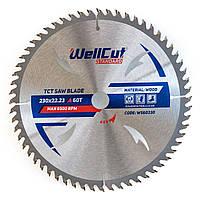 Диск пильный по дереву для циркулярной и торцовочной пилы 230х22.23 WellCut Standard 60Т