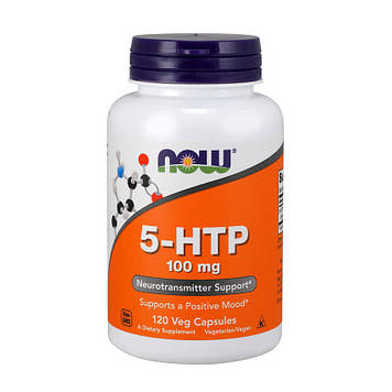 5-HTP 100 mg (120 veg caps) NOW
