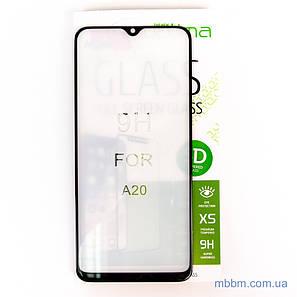 Защитное стекло Optima 5D Samsung A20 black, фото 2