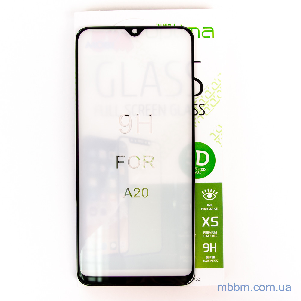 Защитное стекло Optima 5D Samsung A20 black