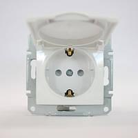 Механизм розетки белый с крышкой, заземлением и защитными шторками IP20 SDN3100121 Schneider Electric Sedna