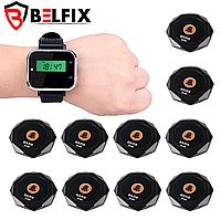 Система вызова официанта с 10 кнопками и часами - пейджером BELFIX,  KIT-1P02B11