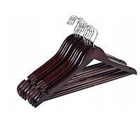 """Набор деревянных вешалок  """"Rondo"""" 10 штук ( темно-коричневый)"""
