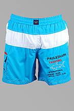 Шорты мужские Paul Shark R381 бирюзовые