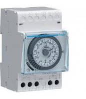 Таймер аналоговий, тижневий, 16А, 1 перемикаємий контакт, резерв ходу 200 год., 3м