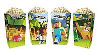 """Коробки для попкорну """"Minecraft"""" Майнкрафт В пак. 5 шт."""