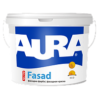 Краска фасадная водно-дисперсионная акриловая для наружных работ AURA Fasad 7кг