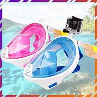 Полнолицевая подводная маска для снорклинга, плавания, ныряния Tribord Easybreath / FREE BREATH