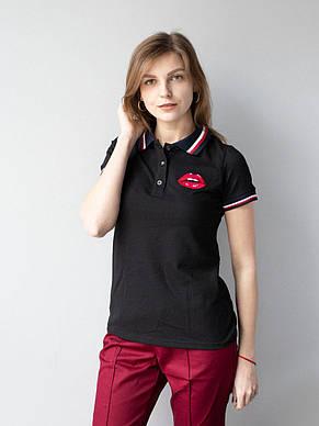 Черная медицинская красивая футболка с вышивкой S-XL, фото 2