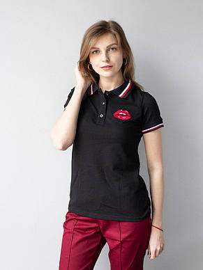 Чорна медична красива футболка з вишивкою S-XL, фото 2