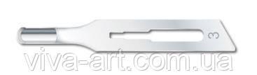Стерильні порожнисті леза № 3 з кріпленням стандарт №3, уп. / 100 шт., Індія