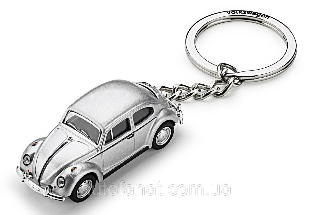 Оригинальный брелок для ключей Volkswagen Beetle 3D, Classic Key Tag, Silver (311087010)