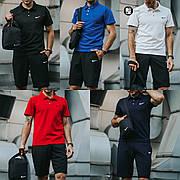 Мужской спортивный комплект (футболка поло+шорты) в стиле Nike 5 видов в наличии + Барсетка в подарок!