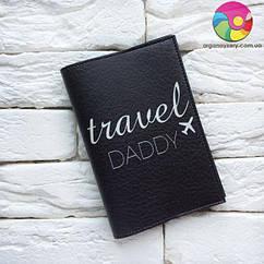 Обложка для паспорта Travel Daddy 2 (черный)