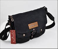 Мужская текстильная сумка Levi's через плечо LEVIS, чёрная