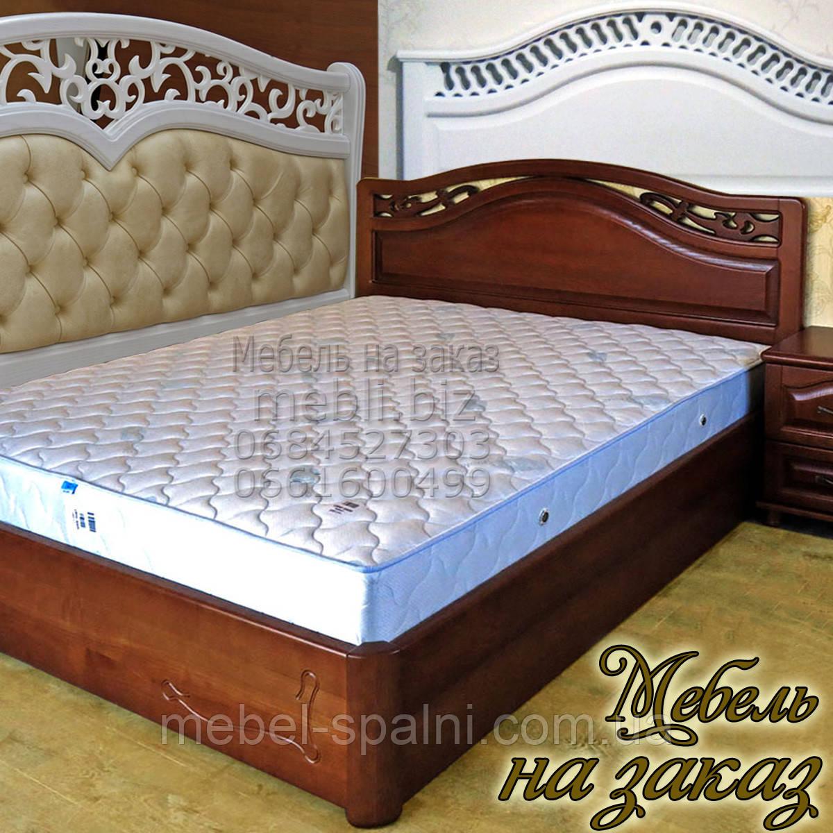 Кровать двуспальная деревянная с ящиками с подъемным механизмом белая