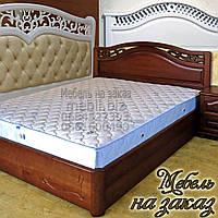 Кровать двуспальная деревянная с ящиками с подъемным механизмом белая, фото 1