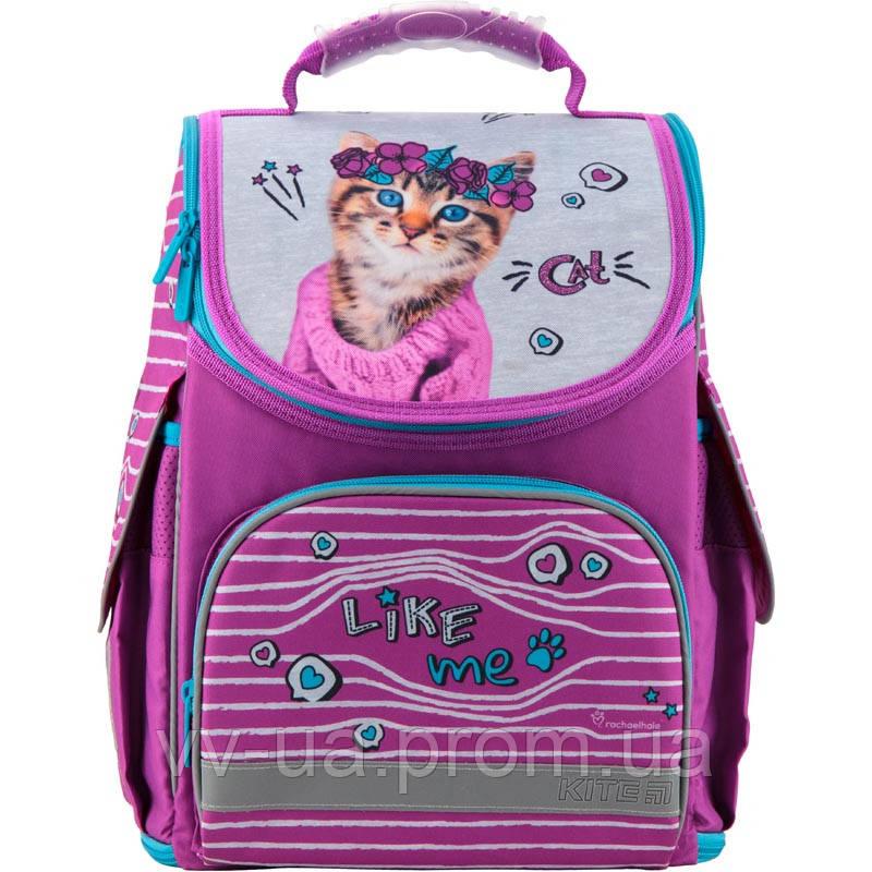 """Рюкзак школьный """"трансформер"""" ортопедический Kite Education 500 R, для девочек, фиолетовый (R19-500S)"""