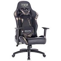 Геймерское кресло VR Racer Original Dazzle черный/камуфляж, ТМ AMF