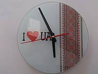 Настенные стеклянные часы ручной работы 300х300