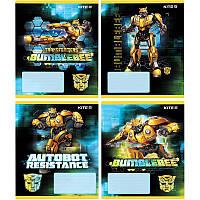 Тетрадь 12 листов косая Kite Transformers TF19-235