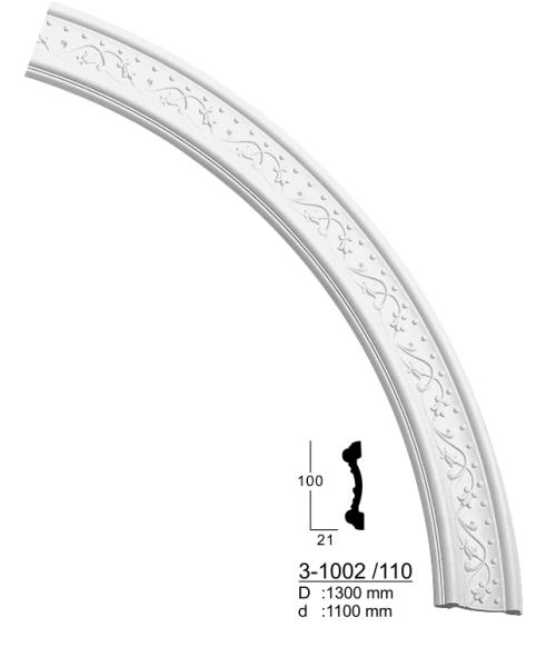 Дуга  настенная Classic Home 3-1002/110 (d:1100)  ,лепной декор из полиуретана.